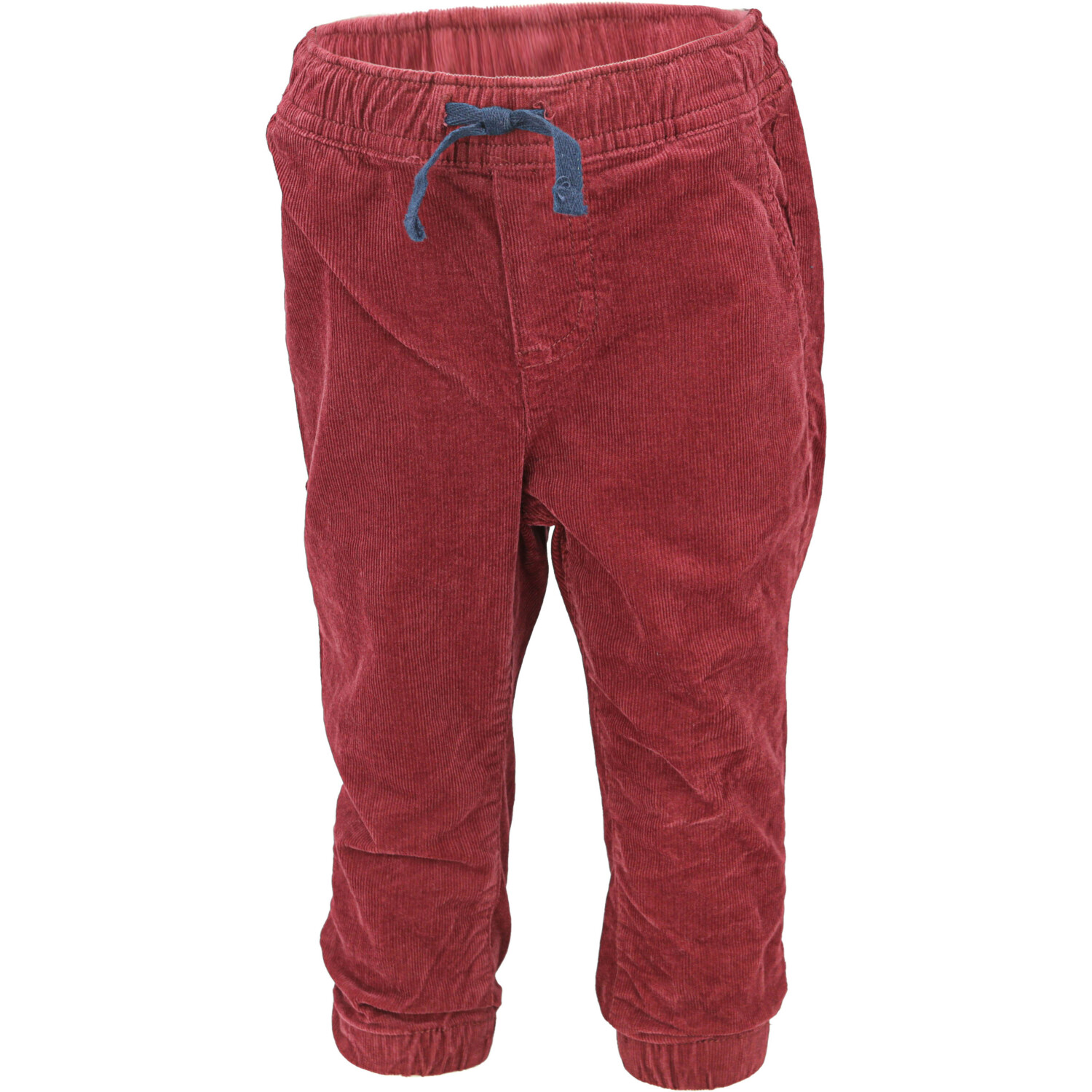 Janie And Jack Boy's Maroon Stretch Corduroy Jogger Pants - 18-24 Months
