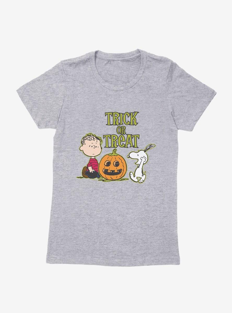Peanuts Trick Or Treat Womens T-Shirt