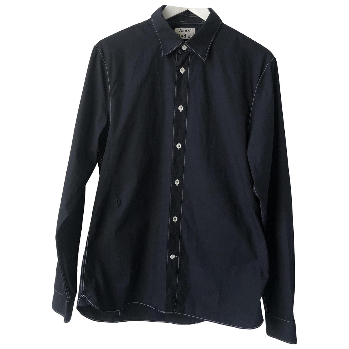 Acne Studios \N Black Cotton Shirts for Men M International