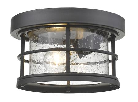 Exterior Additions 555F-BK 10 1 Light Outdoor Contemporary  Coastal  Nautical  Seasidehave Aluminum Frame with Black finish in Clear