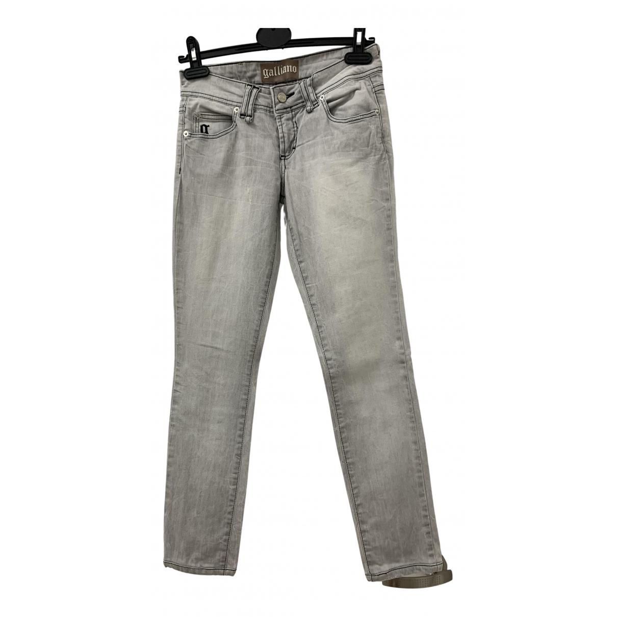 Galliano - Jean   pour femme en coton - elasthane - gris