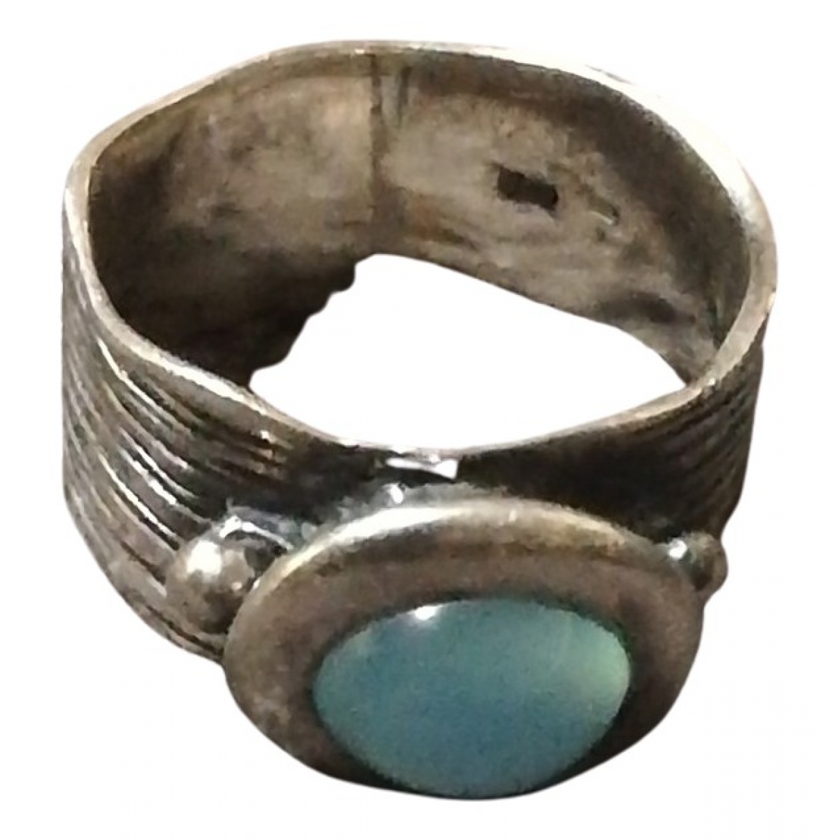 Non Signe / Unsigned Aigues-Marines Ring in  Blau Silber