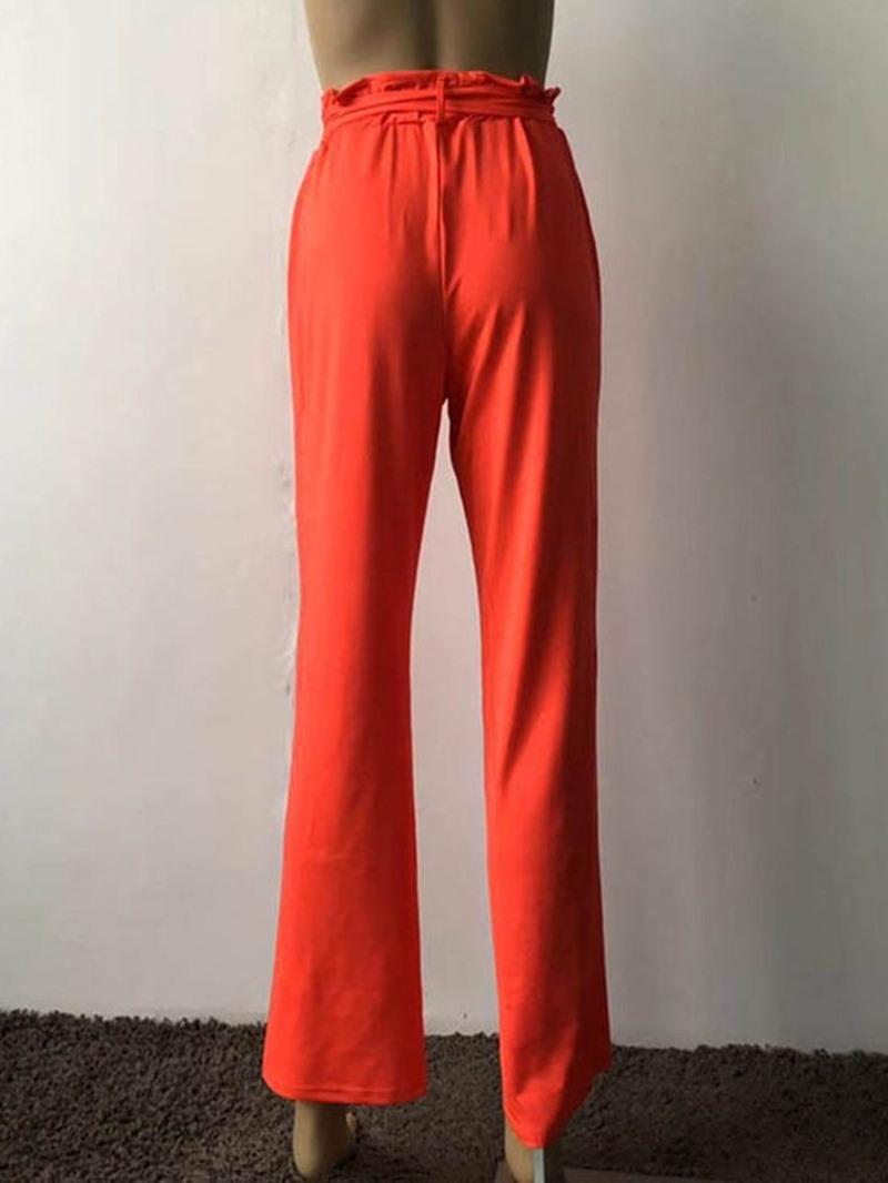 Ericdress Plain High Waist Loose Straight Casual Pants