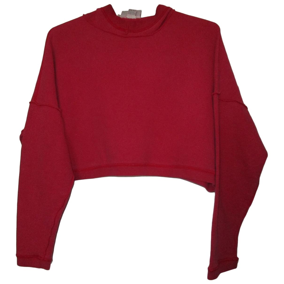 Reebok \N Pullover in  Rot Baumwolle