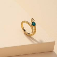 Thermochromic Serpentine Design Ring