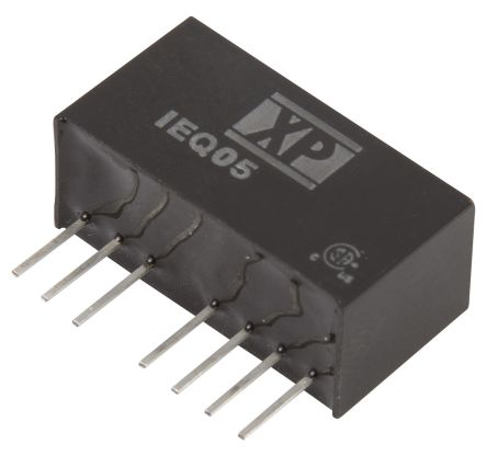XP Power IEQ 5W Isolated DC-DC Converter Through Hole, Voltage in 18 → 75 V dc, Voltage out 15V dc
