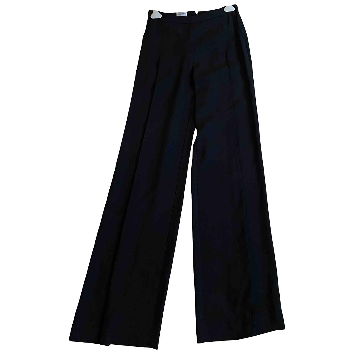 Pantalon en Sintetico Negro Philosophy Di Alberta Ferretti