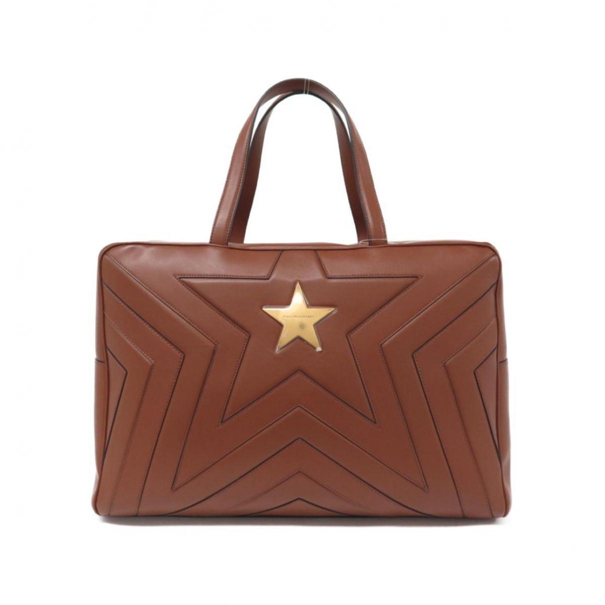 Stella Mccartney Stella Star Handtasche in  Braun Leinen