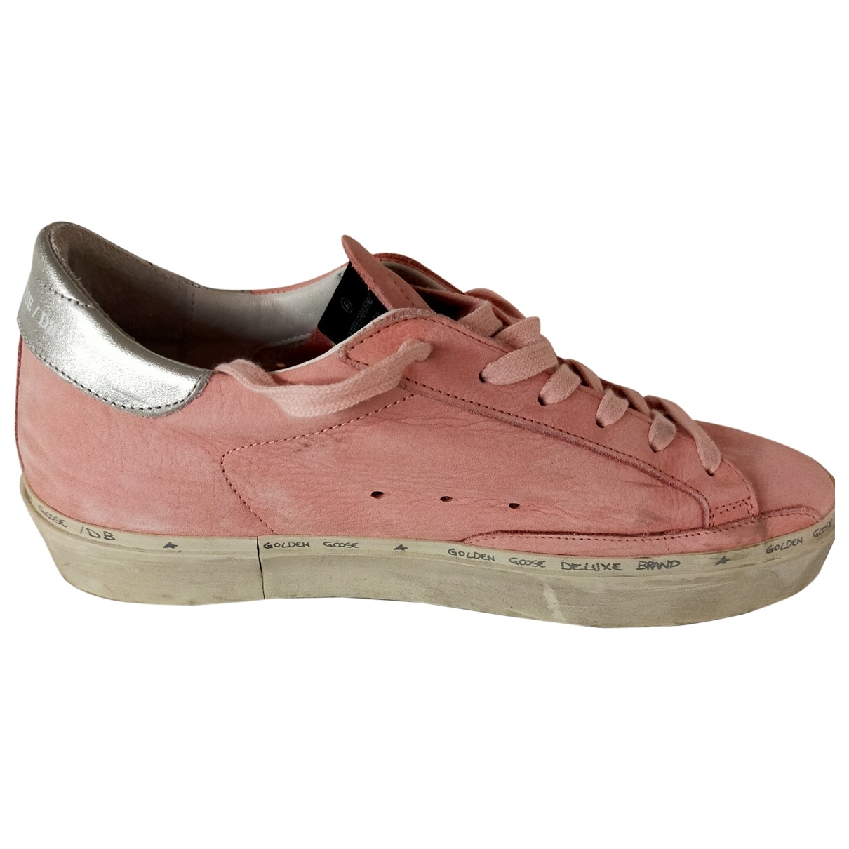 Golden Goose Hi Star Pink Leather Trainers for Women 39 EU
