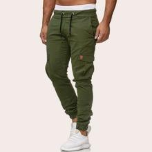 Guys Side Pocket Drawstring Waist Cargo Pants
