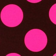Clear Hot Pink/Chocolate Dots Gift Wrap - 30 X 100' - Gift Wrapping Paper by Paper Mart