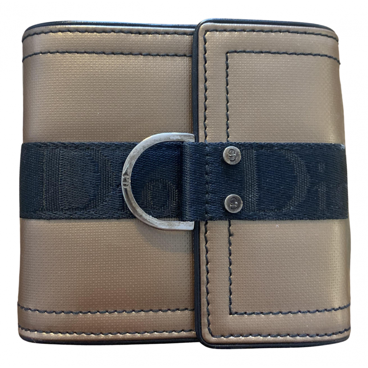 Dior \N Portemonnaie in  Gold Leder