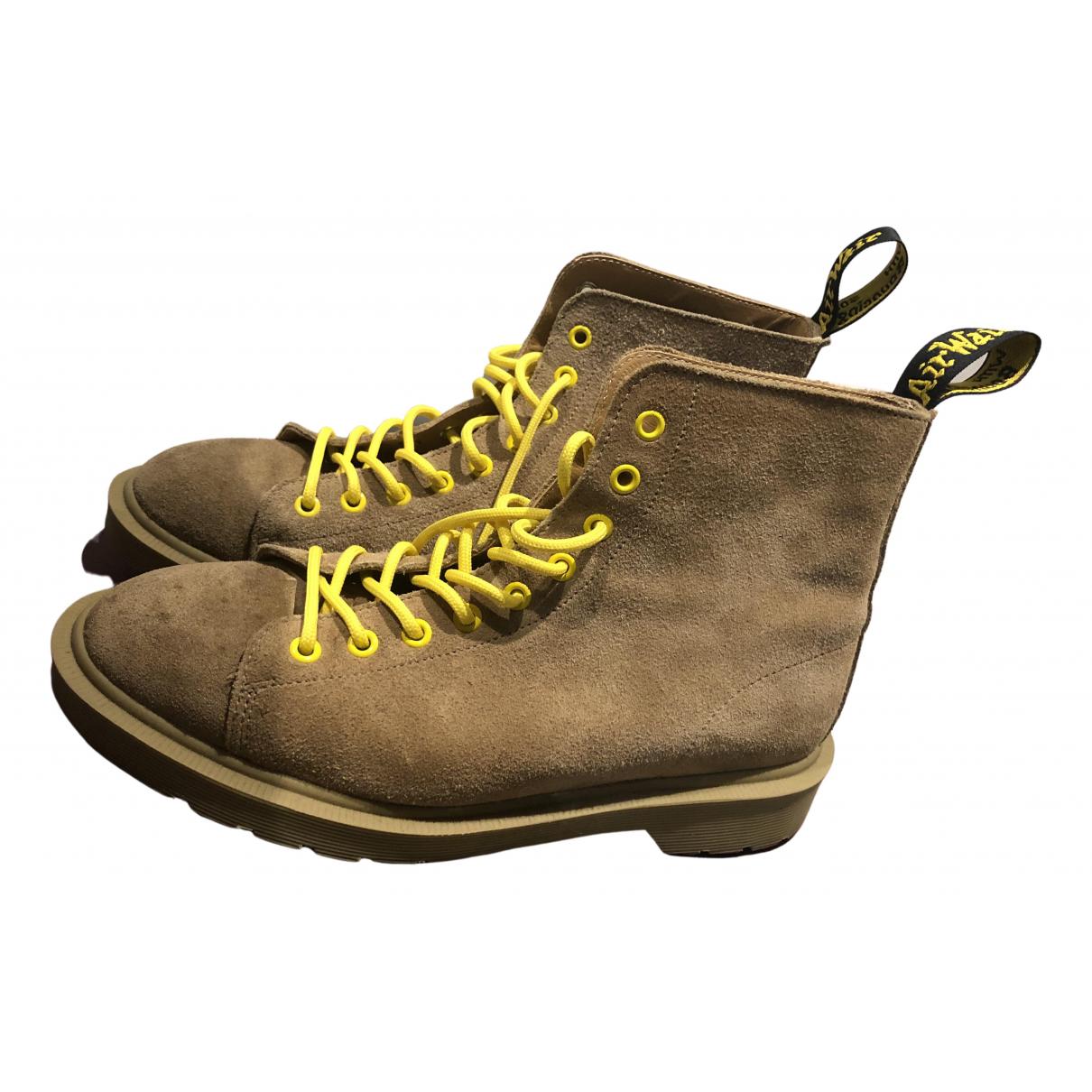 Dr. Martens - Boots   pour femme en suede - marron