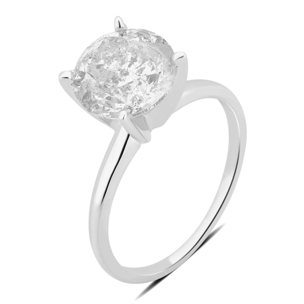 Divina 18K Gold 3 1/4ct TDW round diamond Engagement Ring.(I-J,I2-I3) (8.5)