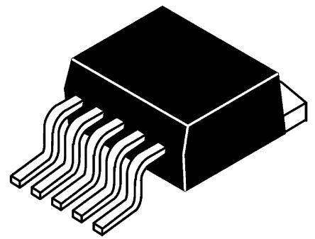 DiodesZetex AP1501A-K5G-13, 1-Channel, Step Down DC-DC Converter, Adjustable 5-Pin, TO-263 (4)