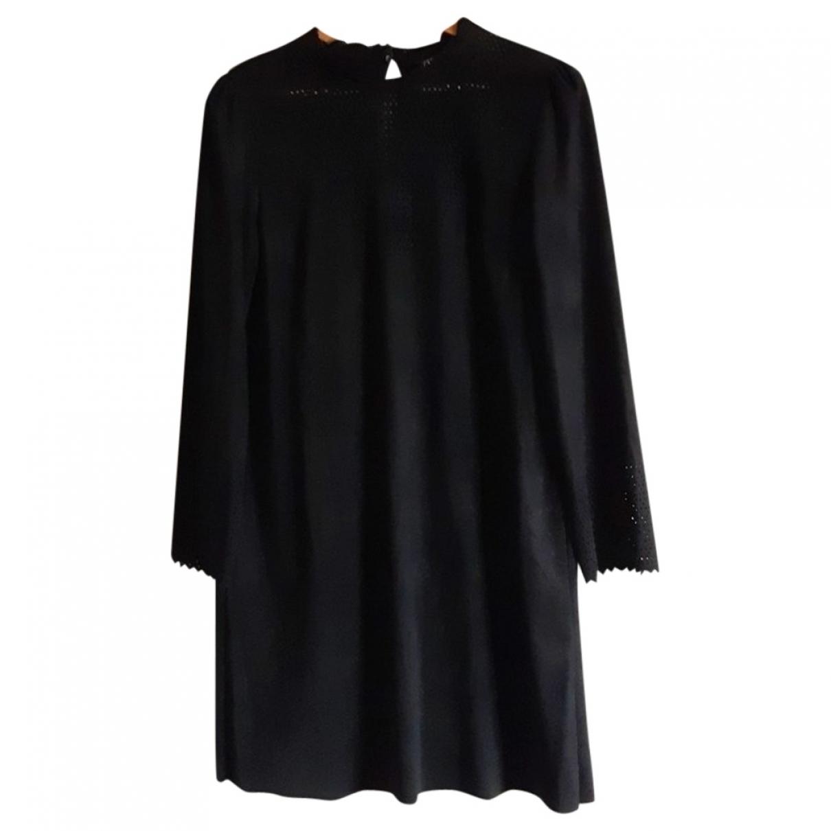Zara - Robe   pour femme en suede - noir