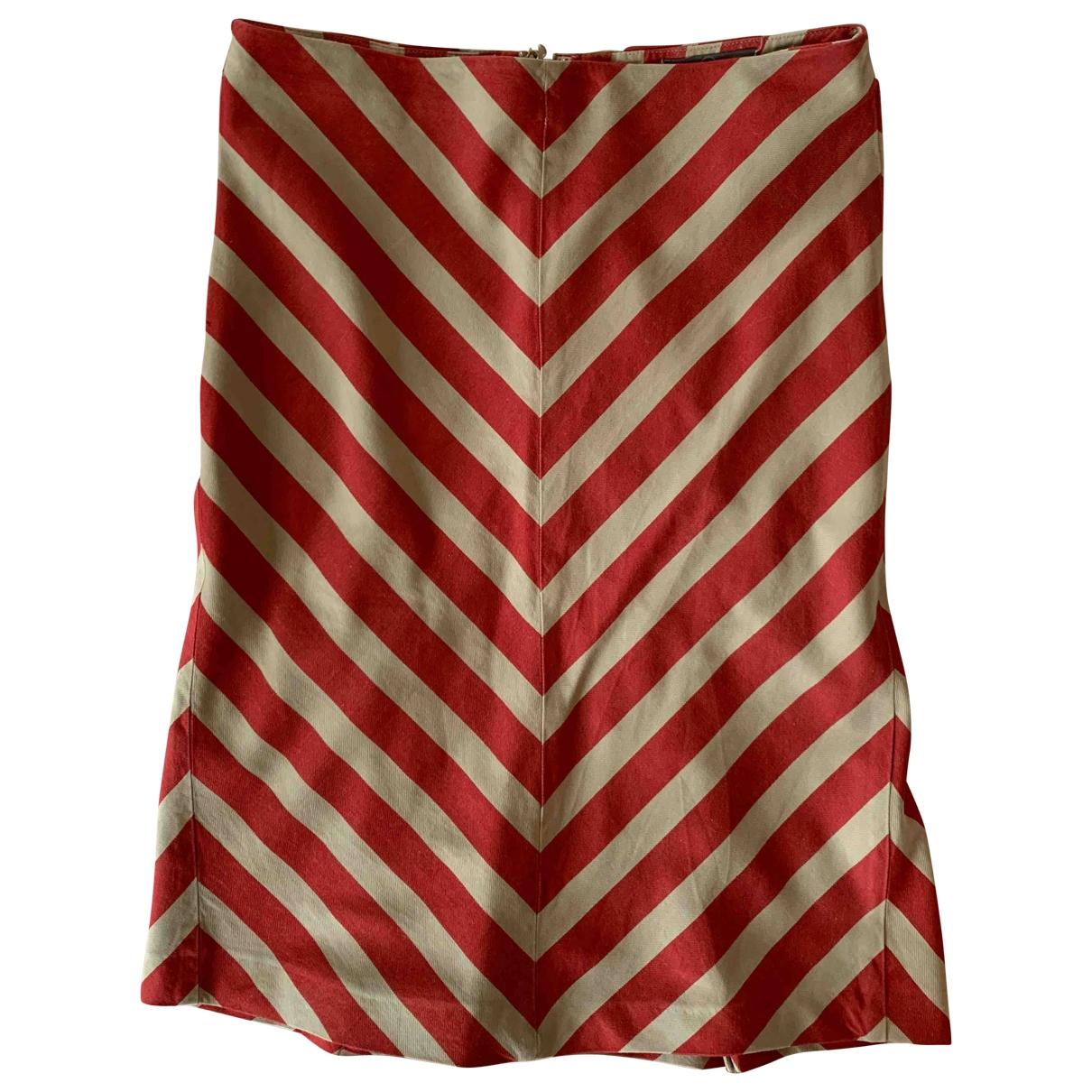 Mcq - Jupe   pour femme en coton - rouge