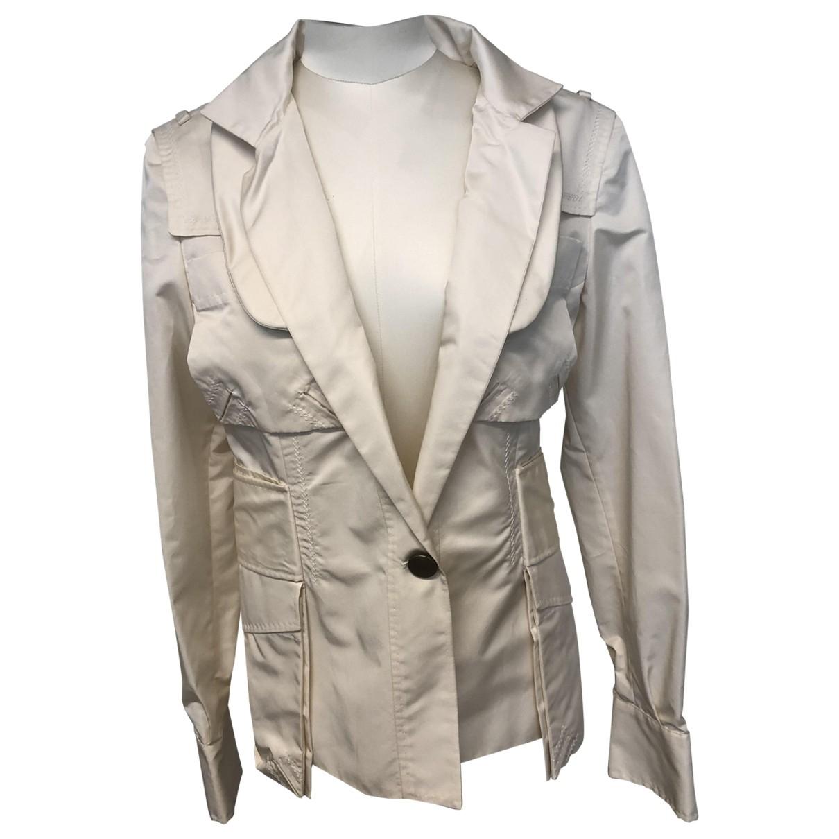 Gucci - Veste   pour femme en soie - blanc