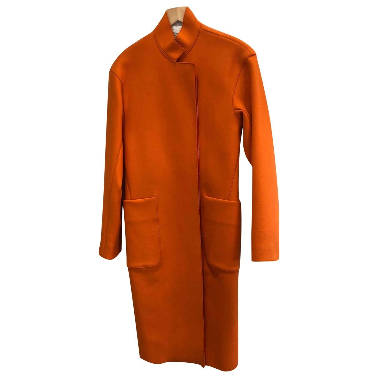 Victoria Beckham - Manteau   pour femme en laine - orange