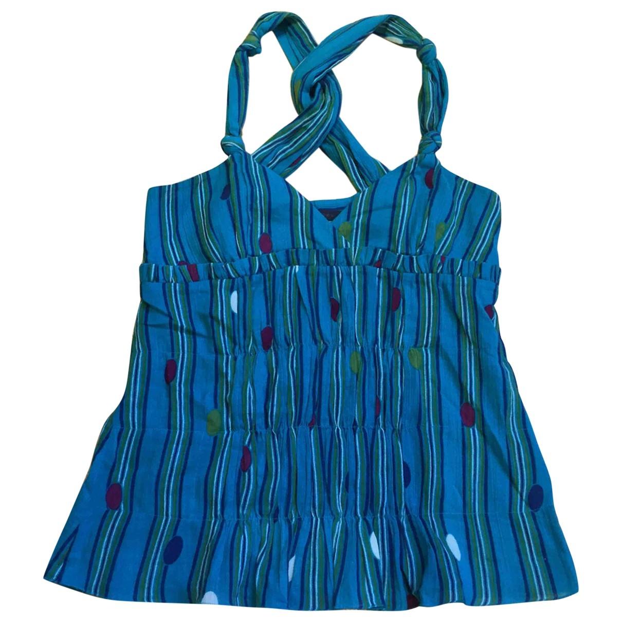 Marc Jacobs - Top   pour femme en coton - turquoise