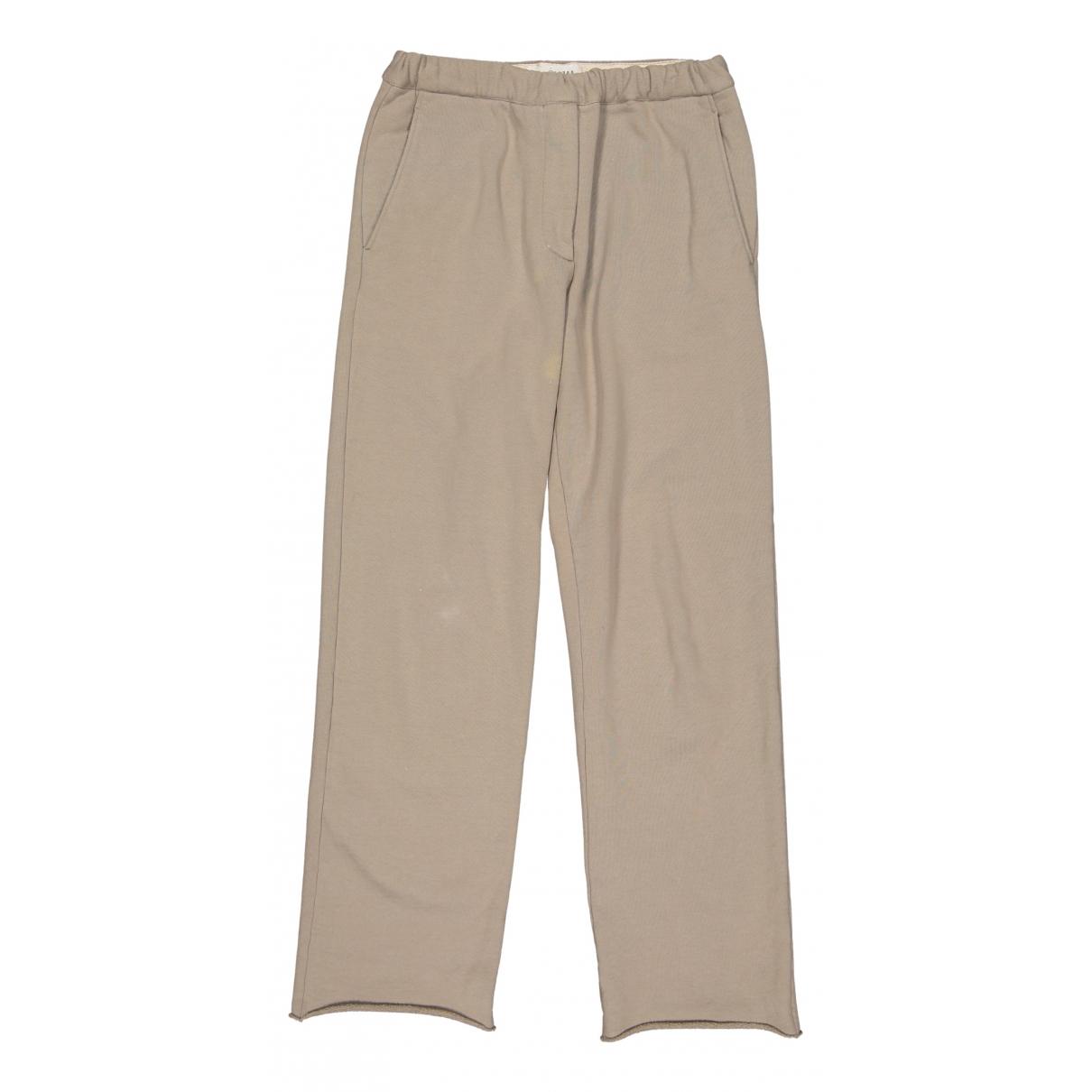 Maison Martin Margiela N Beige Cotton Trousers for Women 40 IT