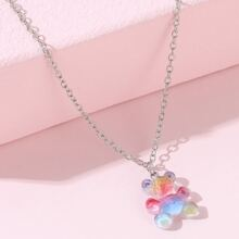 Girls Bear Charm Necklace