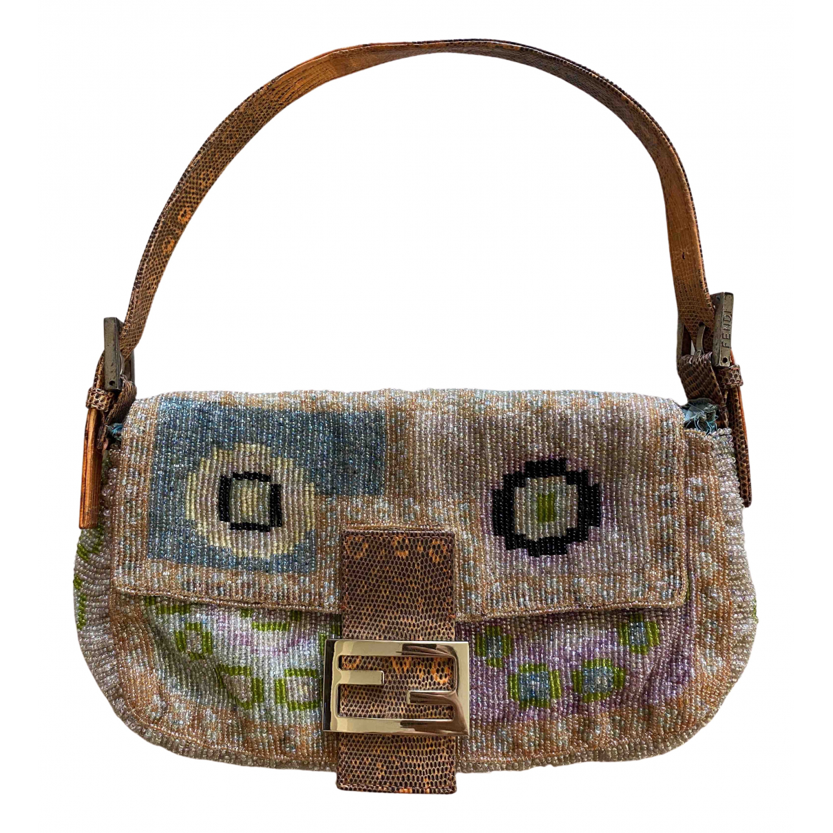 Fendi Baguette Multicolour Cloth handbag for Women N