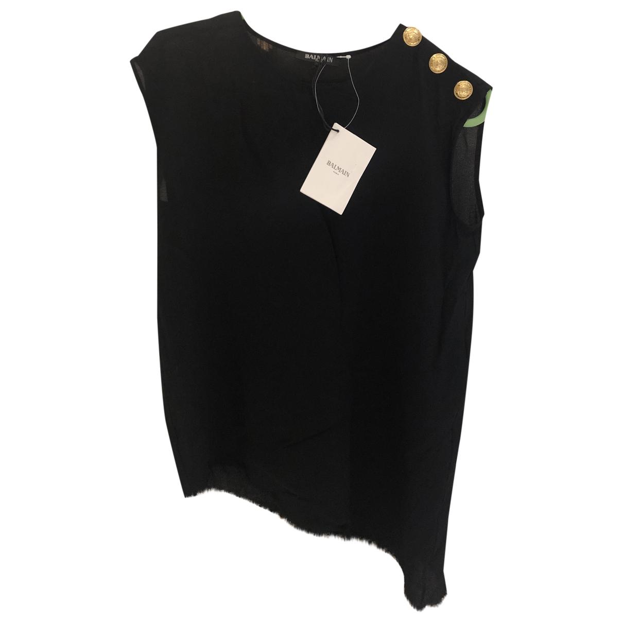 Balmain \N Black  top for Women 36 FR