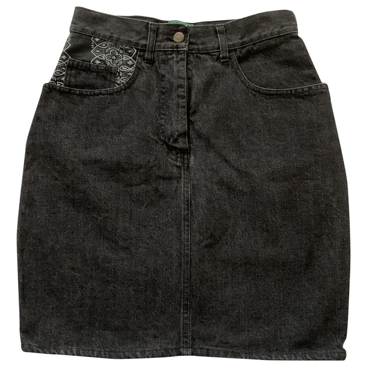 Moschino \N Black Denim - Jeans skirt for Women 44 IT
