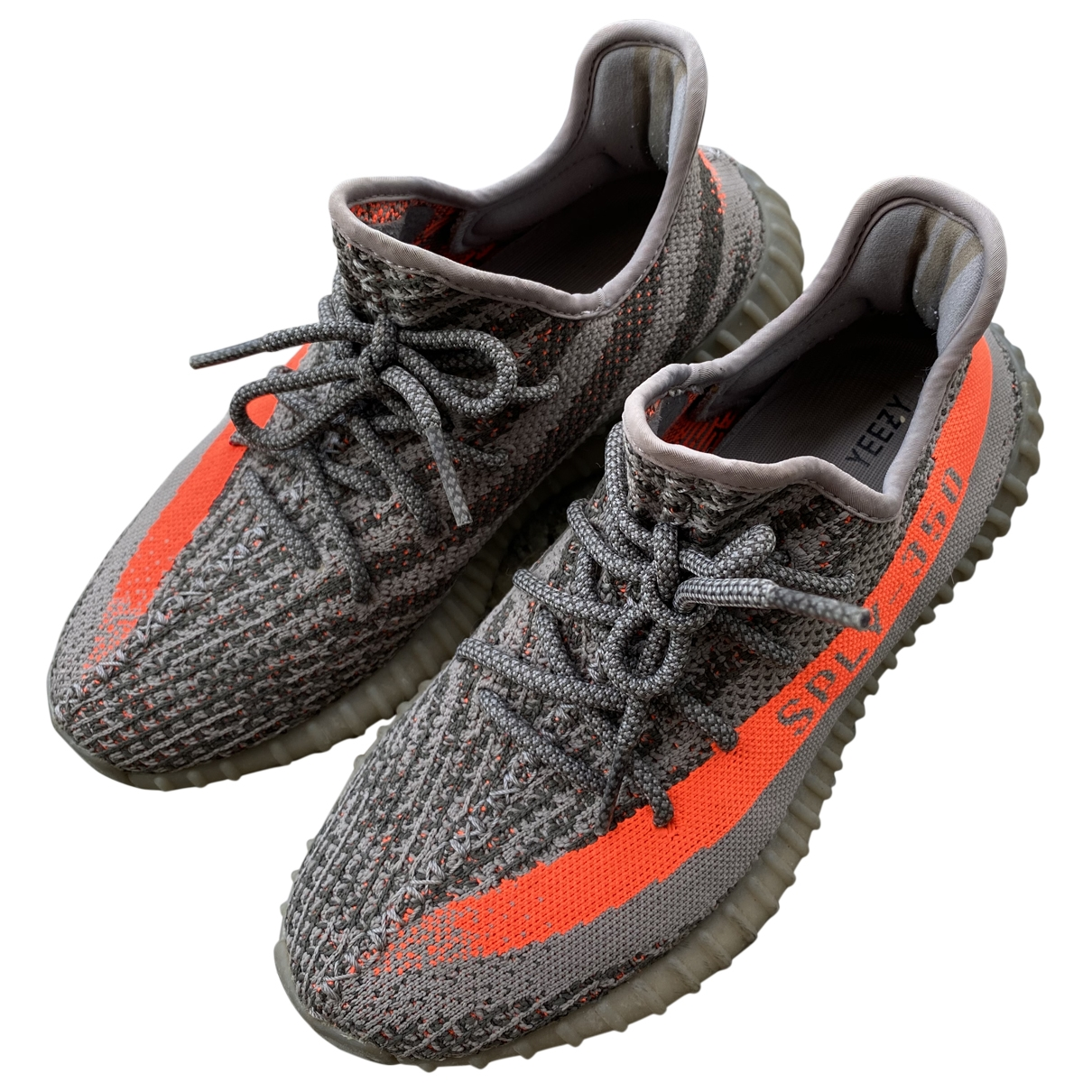 Yeezy X Adidas Boost 350 V2 Grey Cloth Boots for Men 8 US