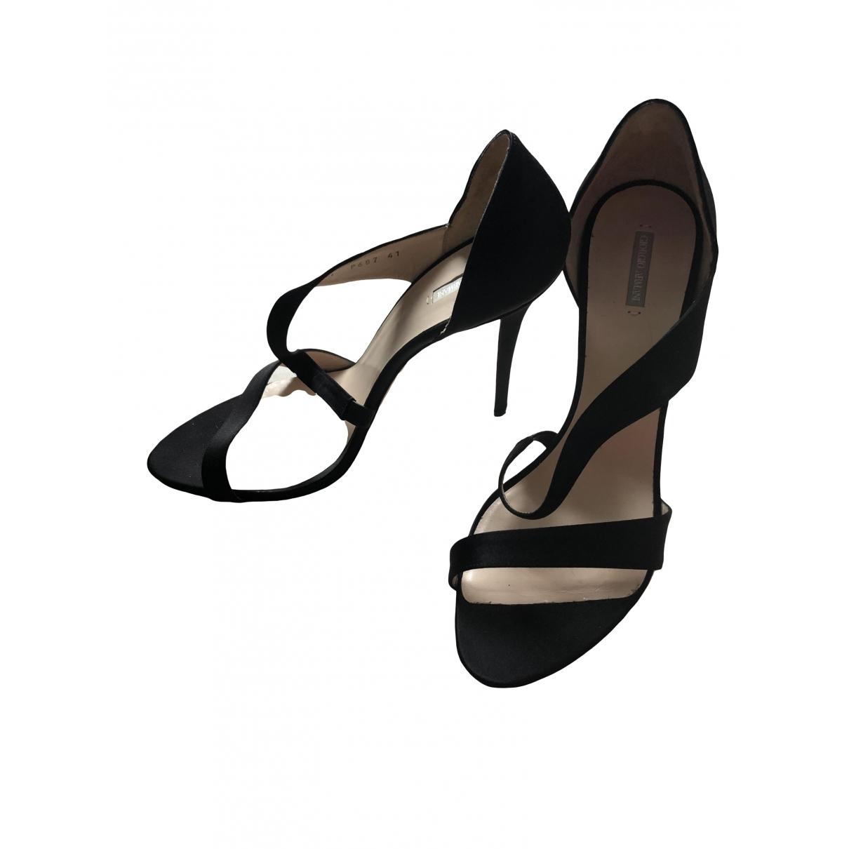 Giorgio Armani - Escarpins   pour femme en toile - noir