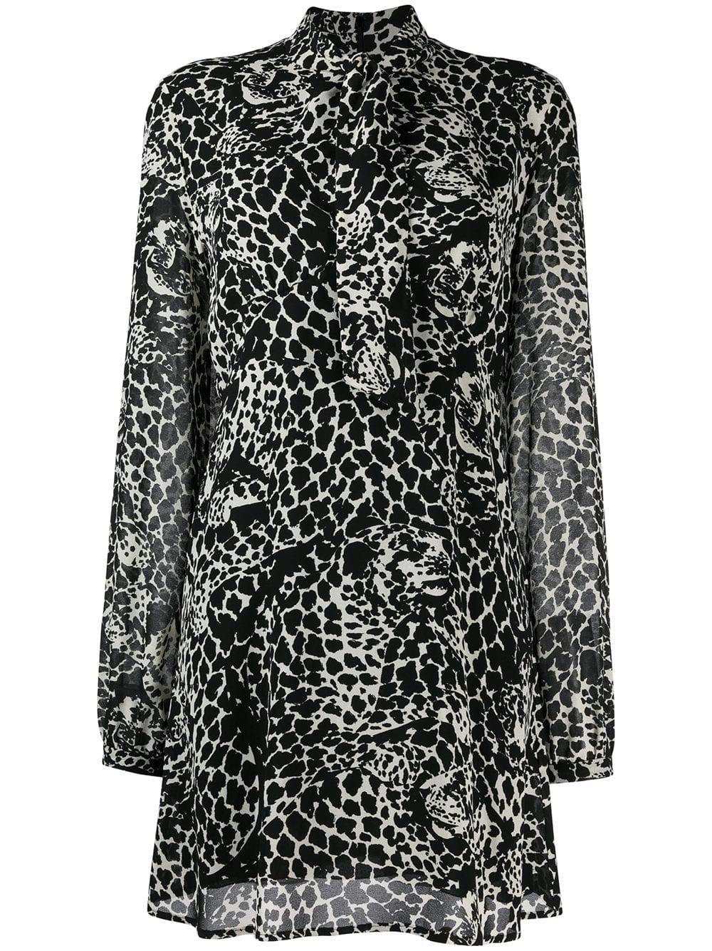 Short Dress With Leo Print
