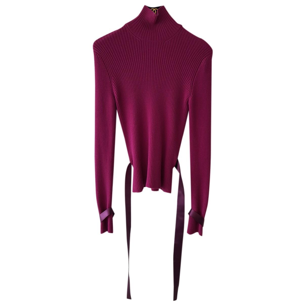 Chanel N Purple Wool Knitwear for Women 38 FR