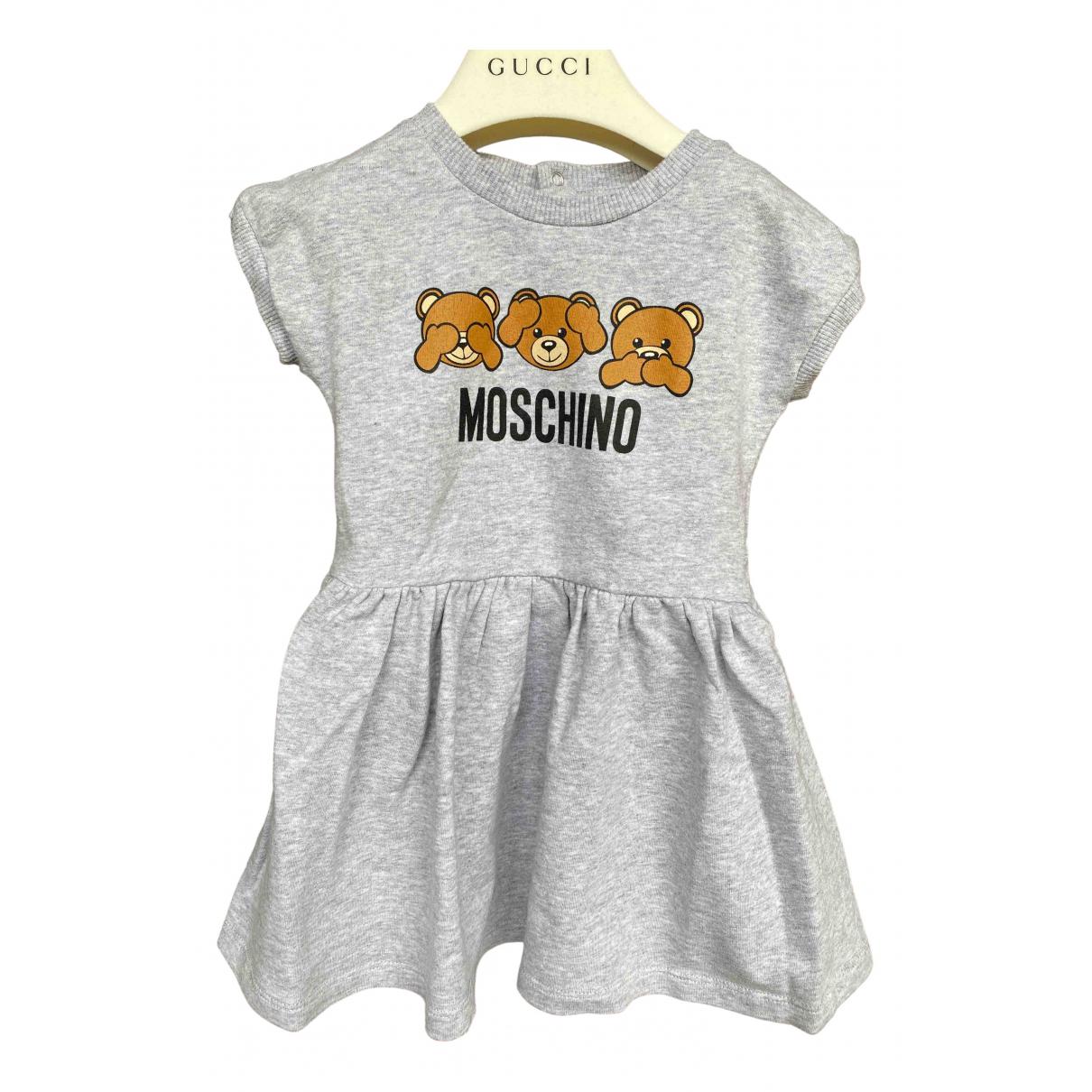 Moschino \N Kleid in  Grau Baumwolle
