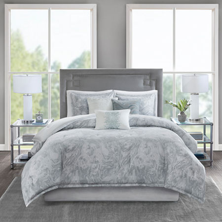 Madison Park Nowell Cotton 7-pc. Comforter Set, One Size , Gray