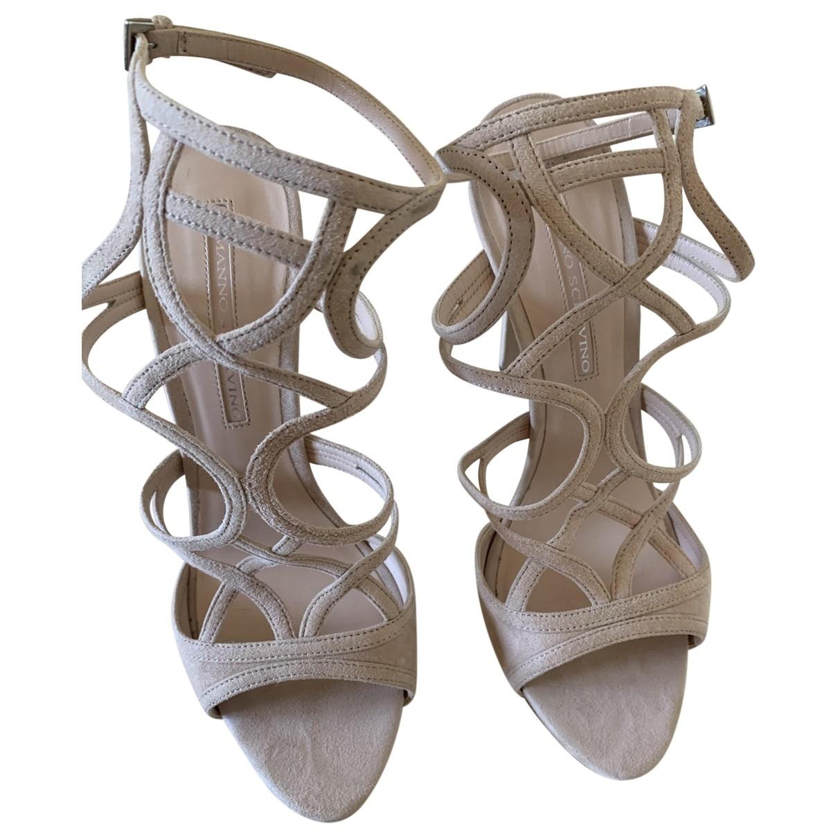 Ermanno Scervino \N Pink Suede Sandals for Women 40 EU