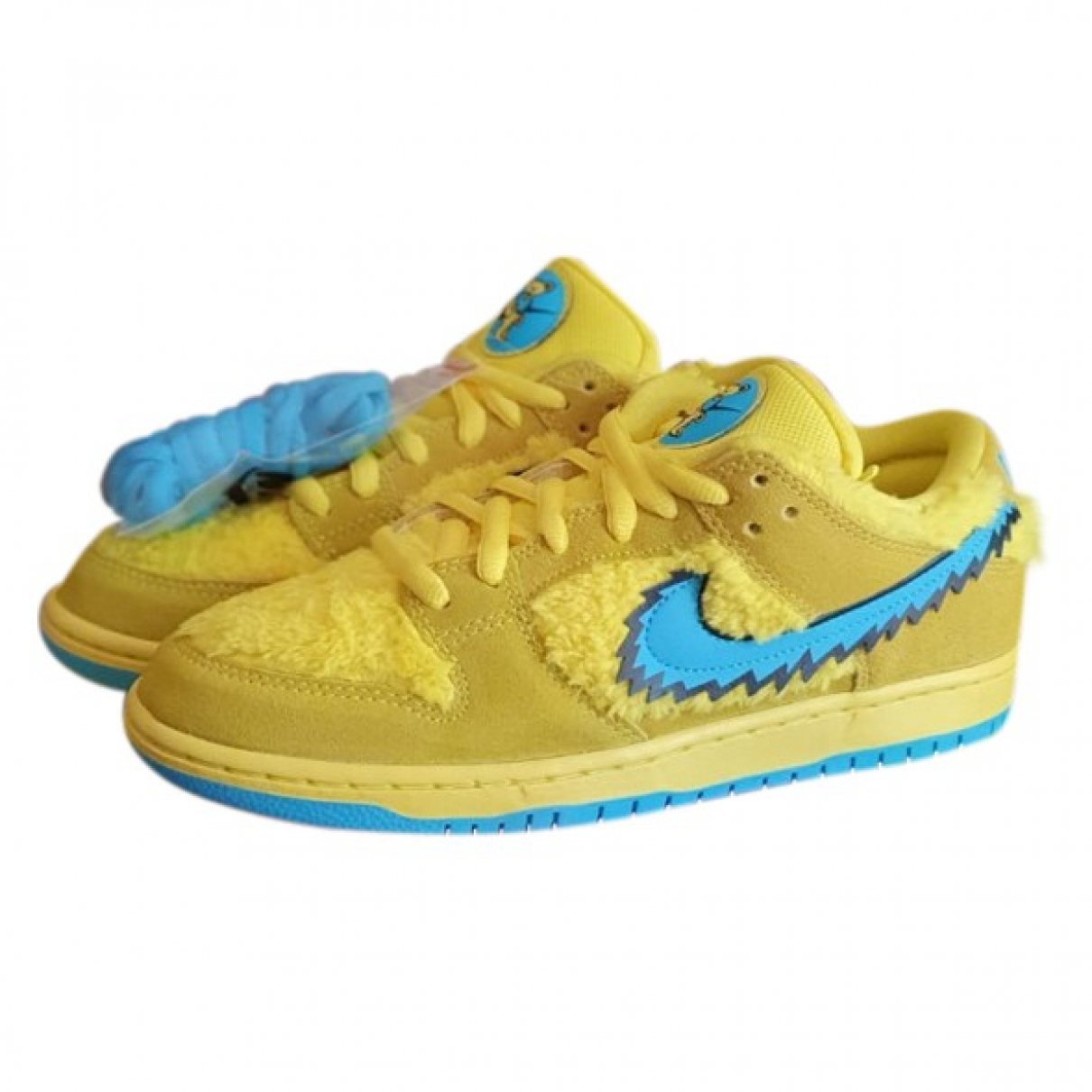 Nike SB Dunk  Yellow Leather Trainers for Men 9 US