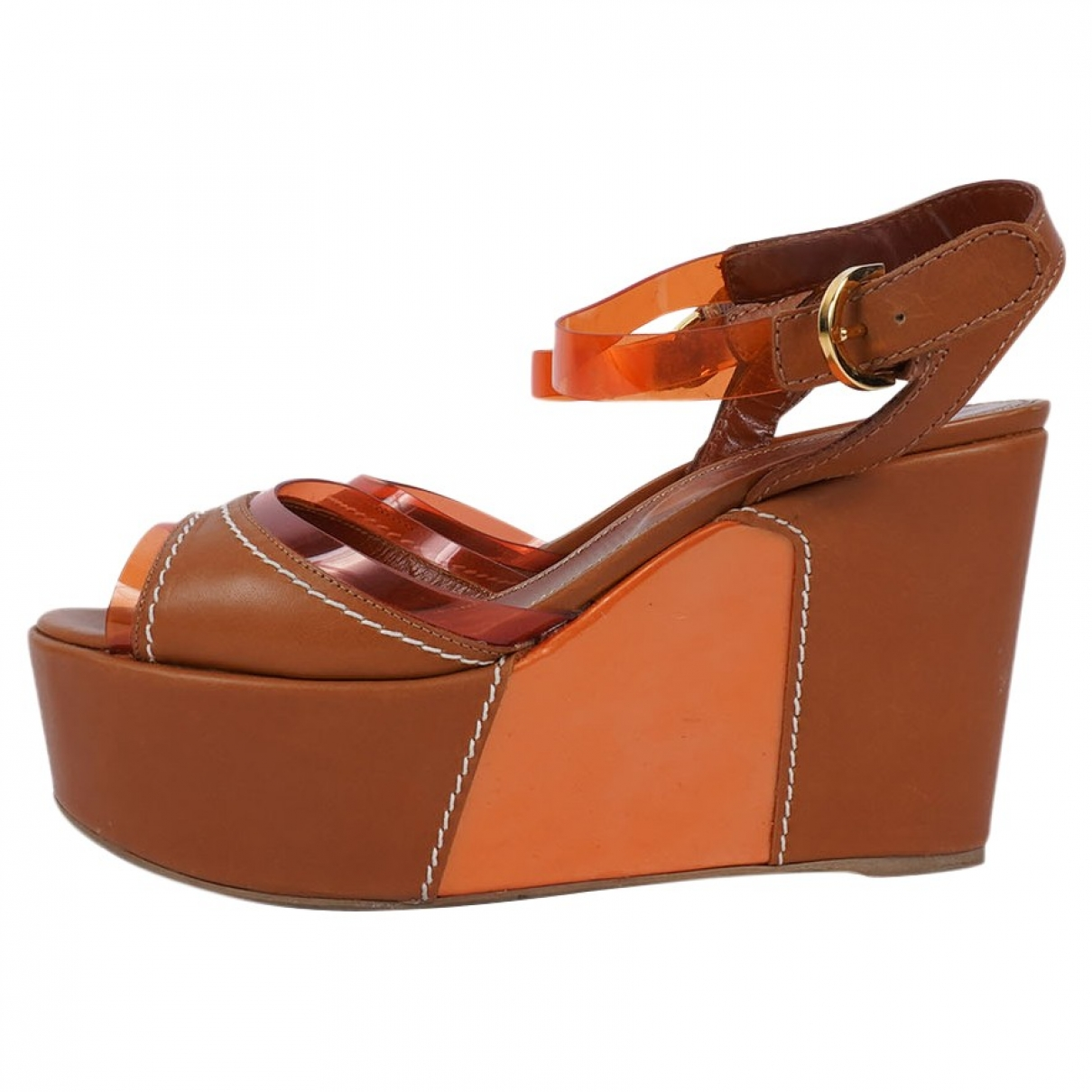 Sergio Rossi \N Brown Leather Sandals for Women 38 EU