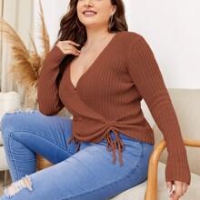 Pullover mit Kordelzug vorn