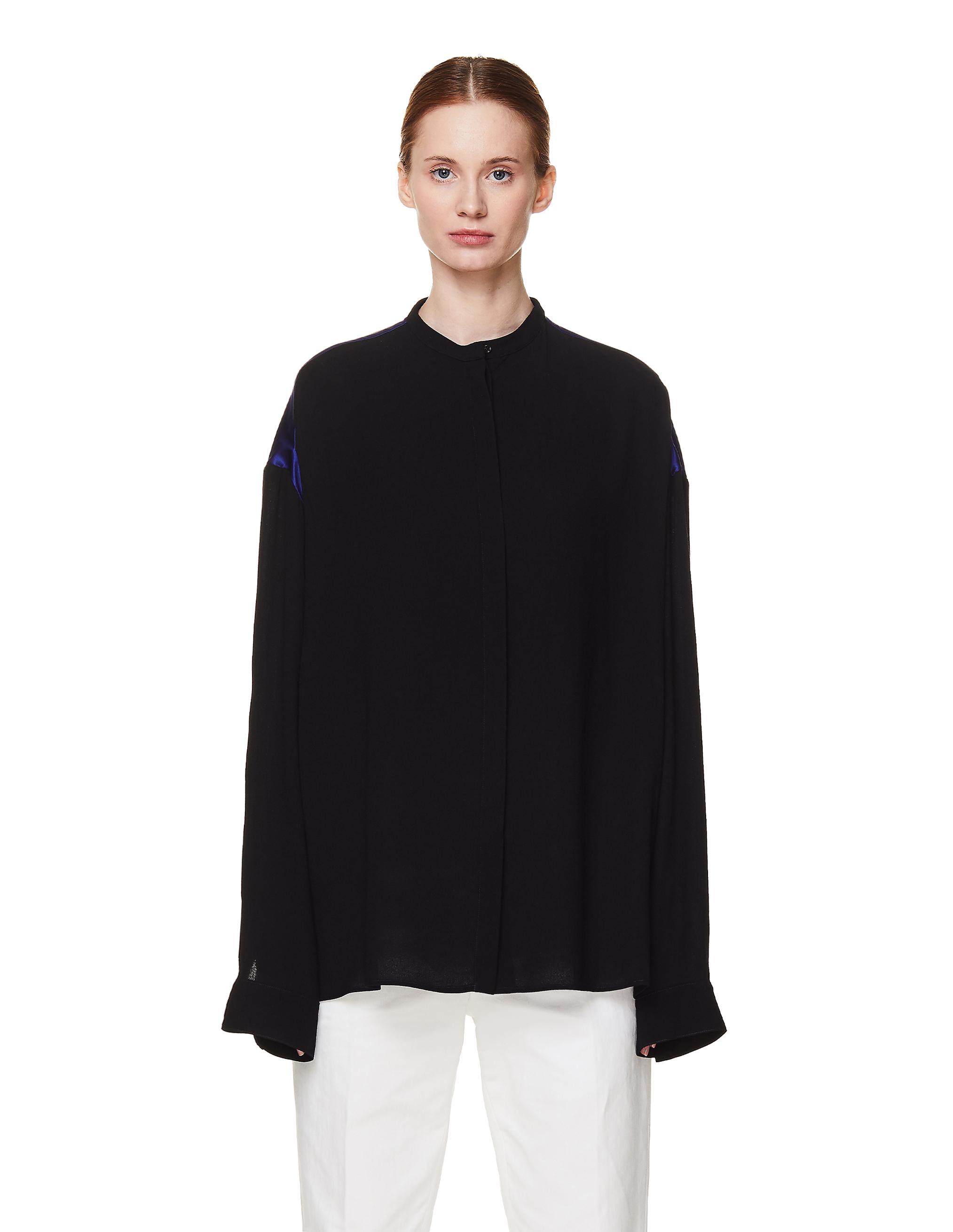 Haider Ackermann Black Viscose Shirt