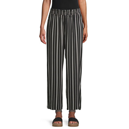 Society And Stitch-Juniors Womens Straight Pull-On Pants, X-small , Black