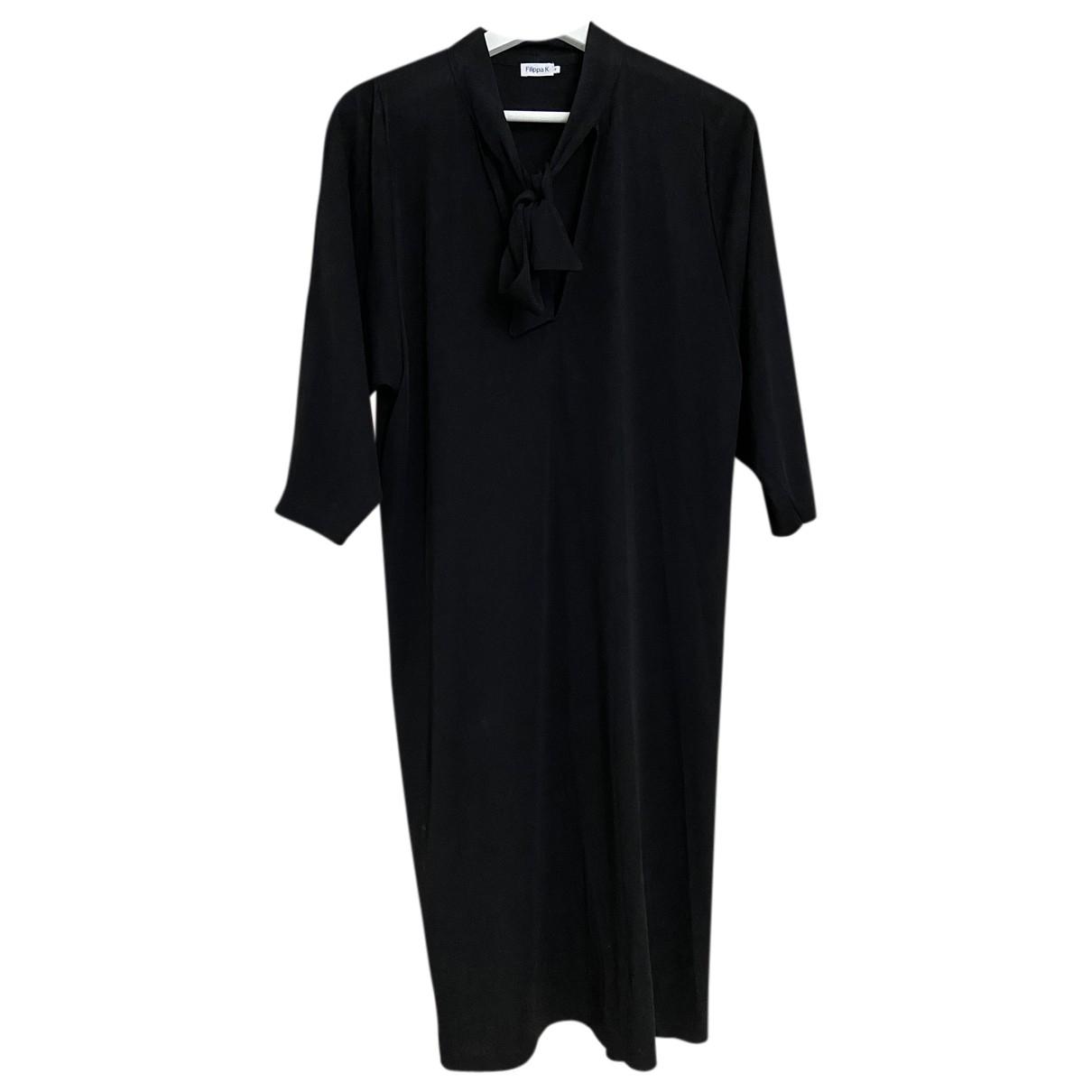 Filippa K \N Kleid in  Schwarz Seide