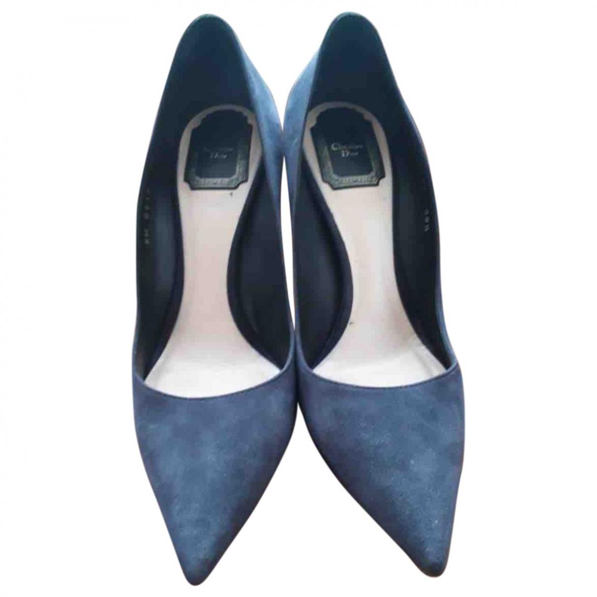 Dior - Escarpins Dior Cherie Pointy Pump pour femme en suede - bleu