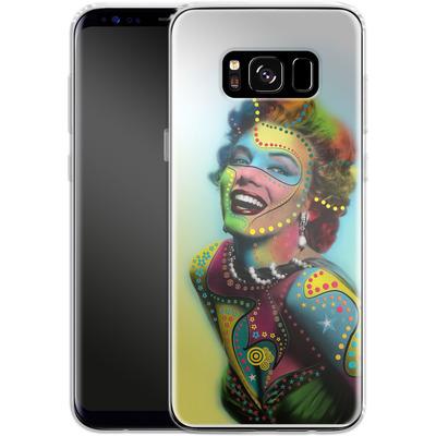 Samsung Galaxy S8 Silikon Handyhuelle - Woman With Pattern von Mark Ashkenazi
