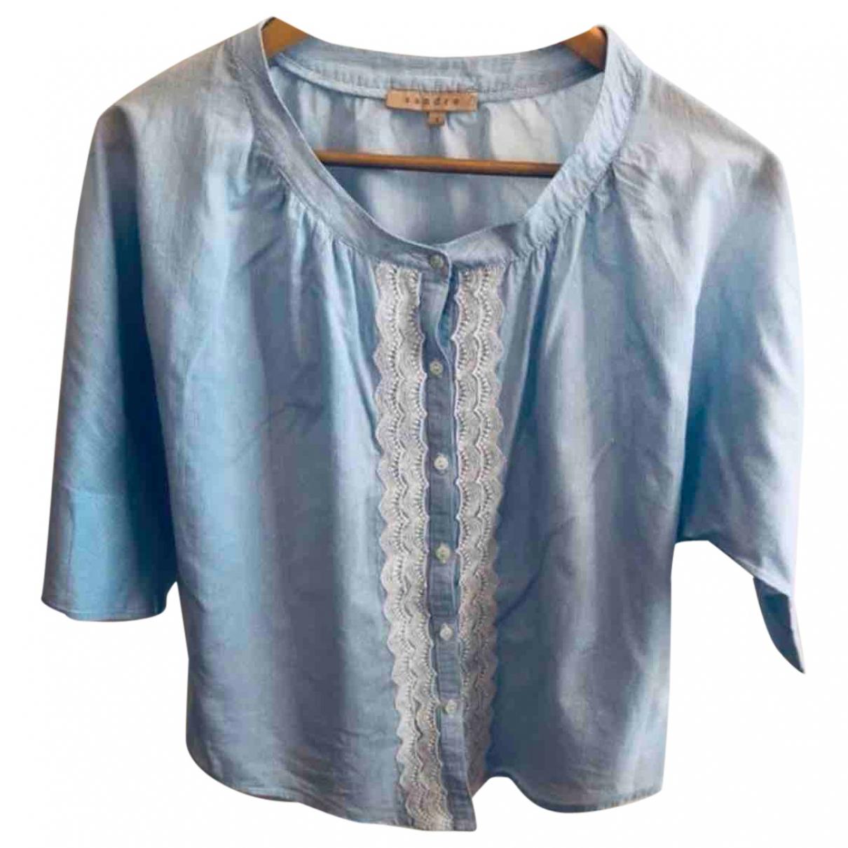 Sandro - Top Spring Summer 2020 pour femme en coton - bleu