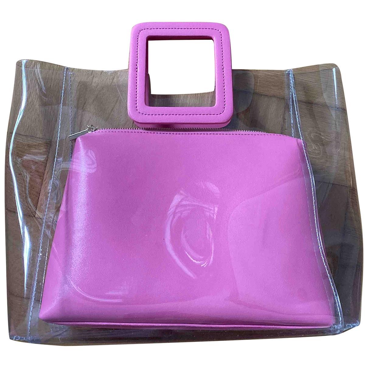Staud Shirley Handtasche in  Rosa Kunststoff