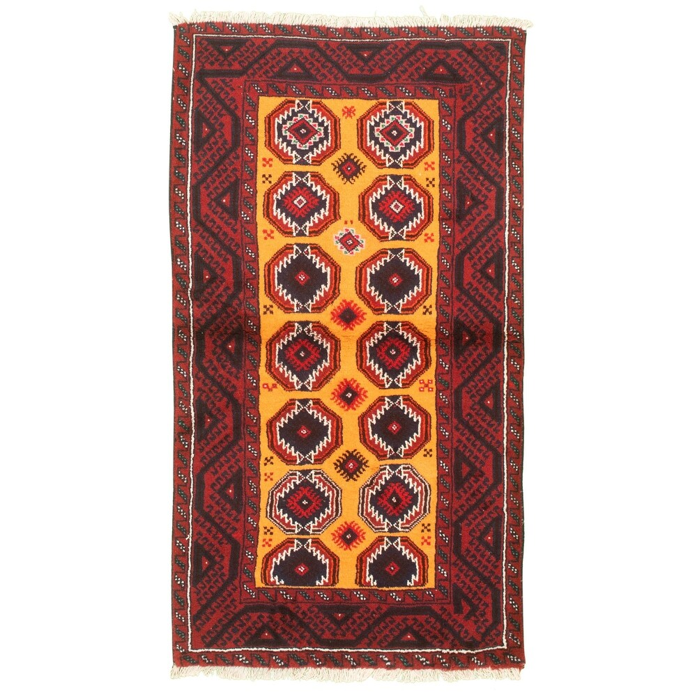 ECARPETGALLERY Hand-knotted Teimani Red Wool Rug - 3'3 x 6'1 (Red - 3'3 x 6'1)