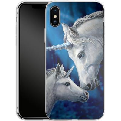 Apple iPhone X Silikon Handyhuelle - Sacred Love von Lisa Parker