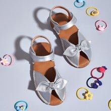 Toddler Girls Bow Decor Ankle Strap Sandals