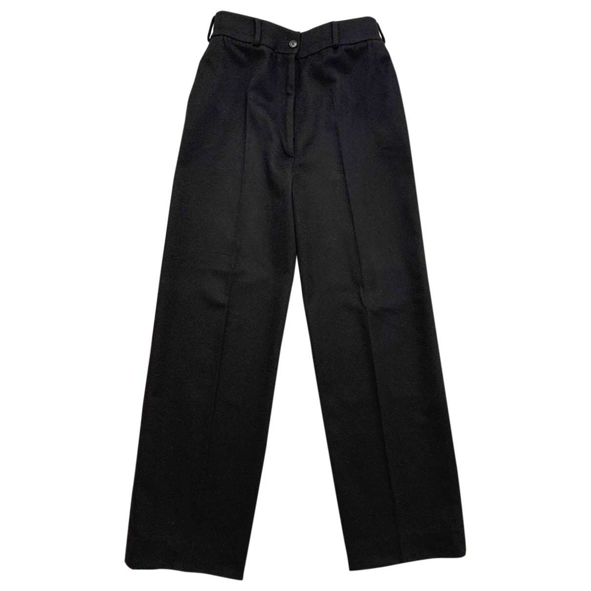 Lanvin \N Black Cashmere Trousers for Women 40 FR